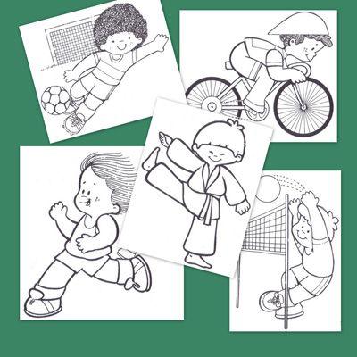 Dibujos de deportes para imprimir y colorear  Educacin