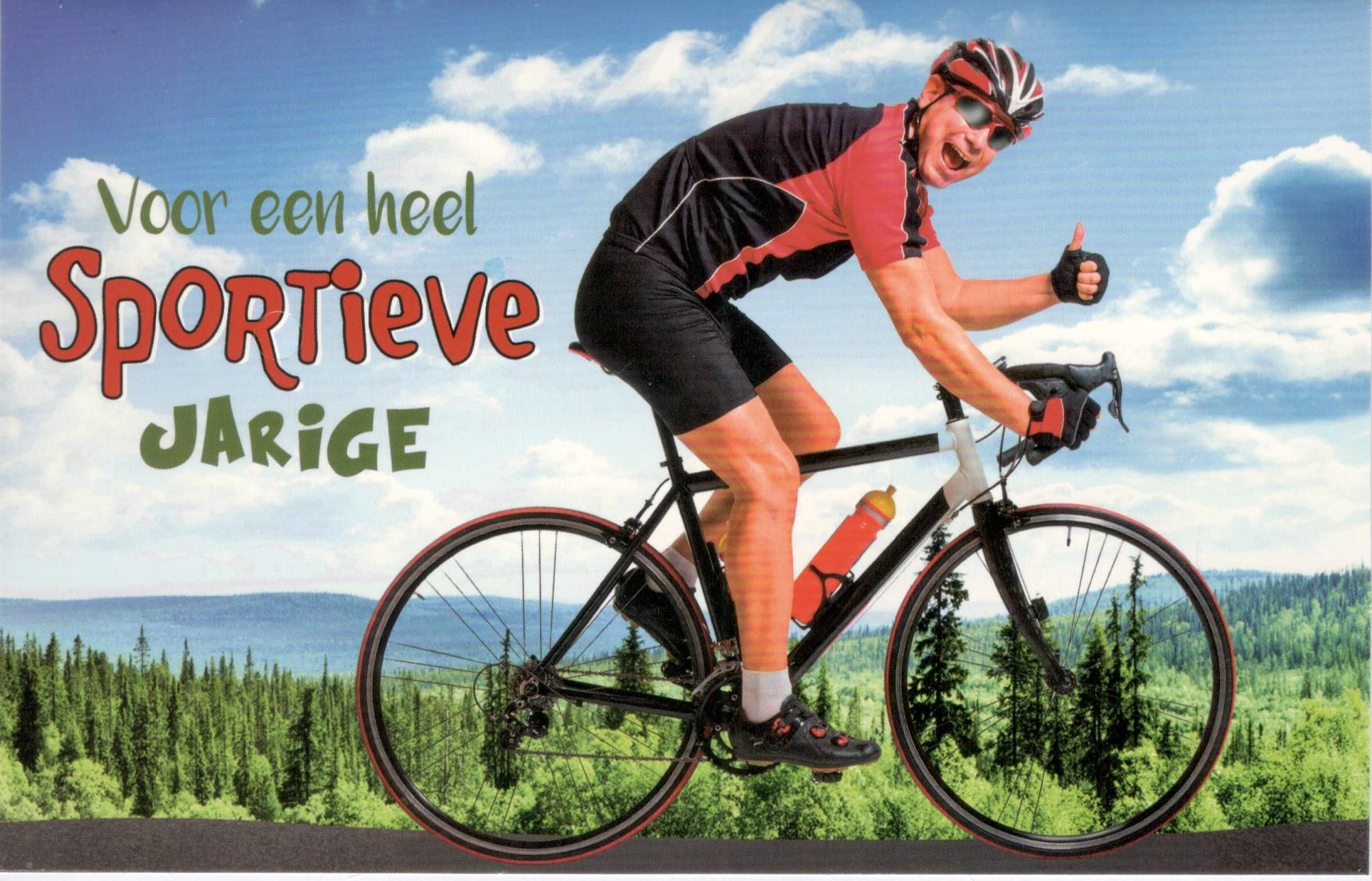 Verjaardag Man Fietser.Verjaardagskaart Voor Een Sportieve Jarige Verjaardag Man