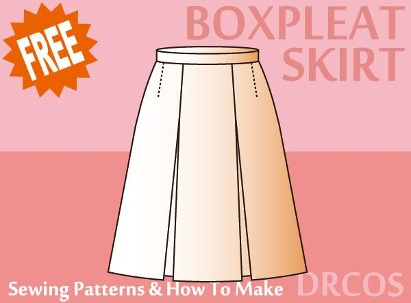 Making A Flared Box Pleated Skirt Diy Skirt Pleated Skirt Pattern Box Pleat Skirt