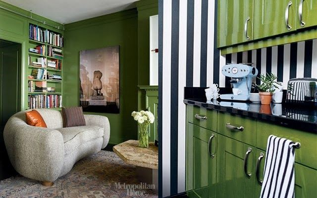 green room. color scheme