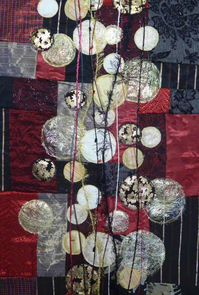 tuto panneau patchwork contemporain pour no l broderie art textile pinterest panneau. Black Bedroom Furniture Sets. Home Design Ideas
