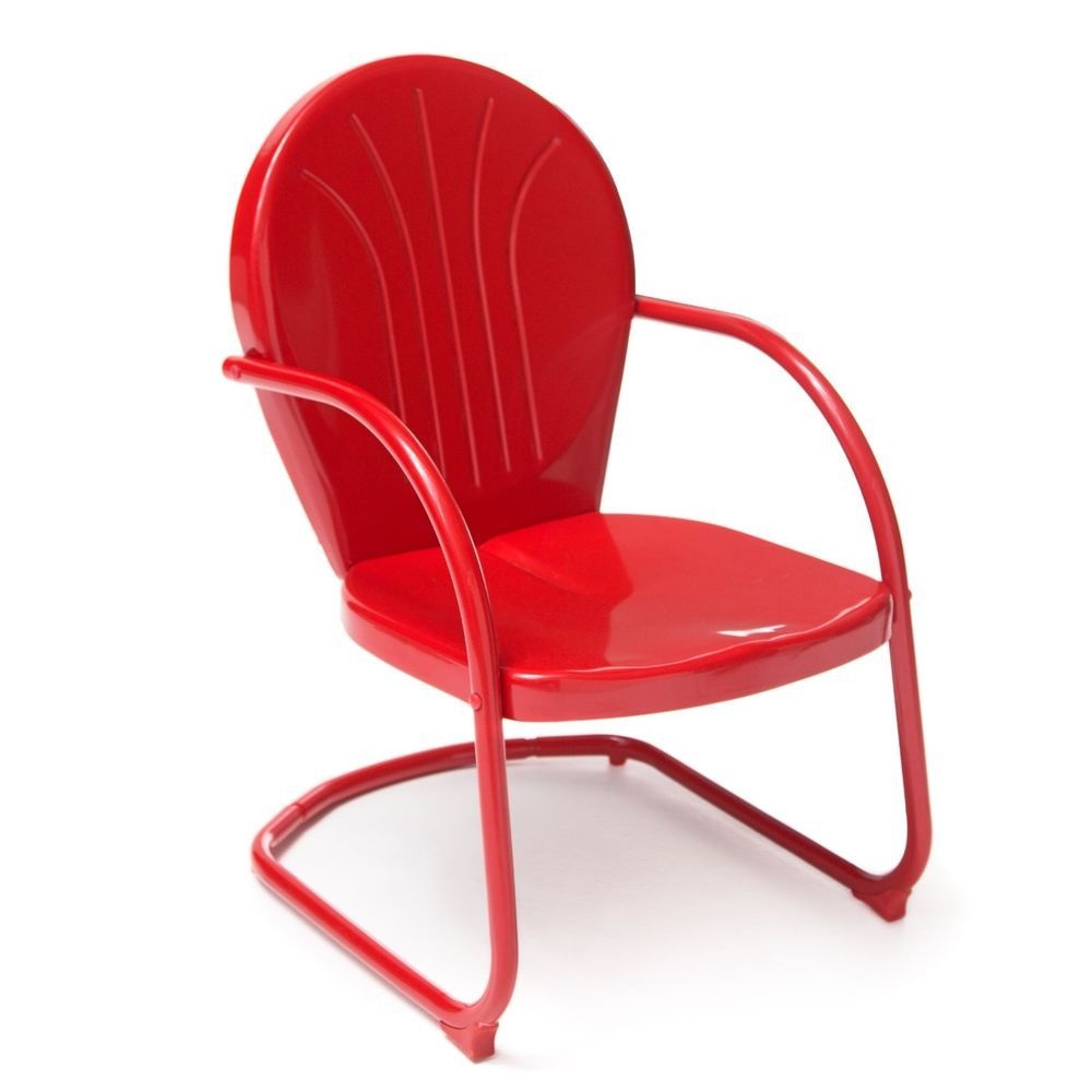 red retro chairs. Red Retro Vintage Style Outdoor Chair Rocking Spring Base Metal Furniture Patio Chairs H