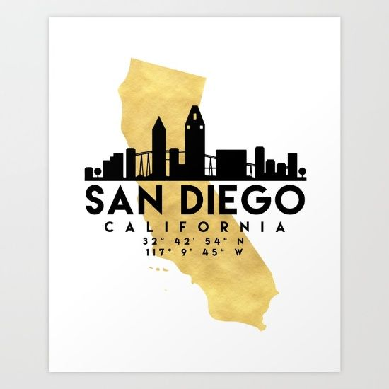 San diego california silhouette skyline map art the beautiful san diego california silhouette skyline map art the beautiful silhouette skyline of san diego and publicscrutiny Choice Image