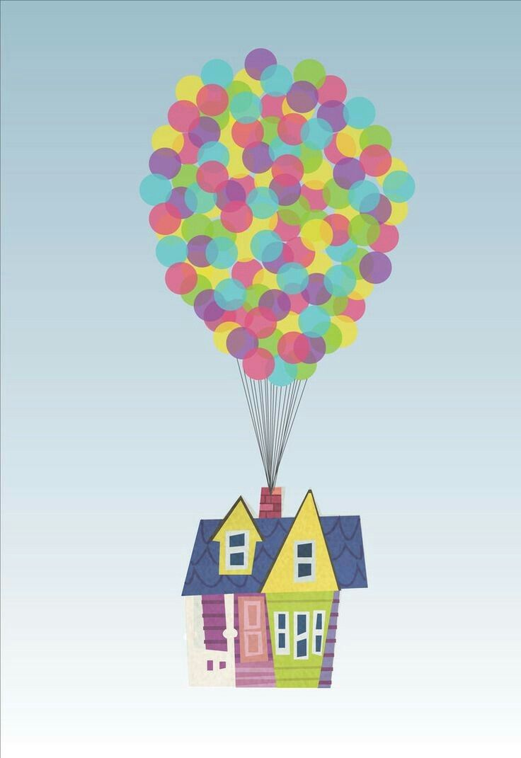 Image By Kerra Sole On Painting Disney Up House Up Pixar