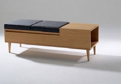 mid century modern storage bench - Google Search | Seating ...