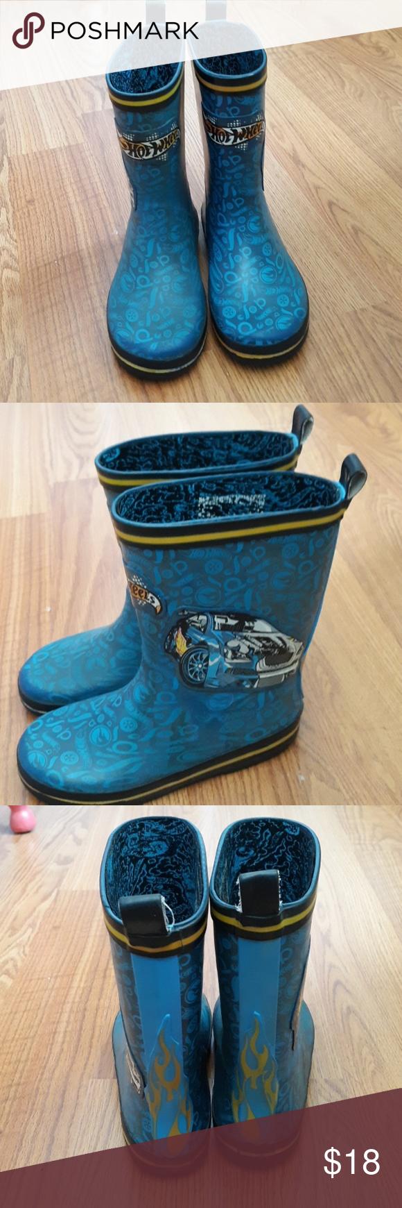 Hot Wheels Boys Rubber Rain Boots Size 12 Rubber Rain Boots Boots Rain Boots