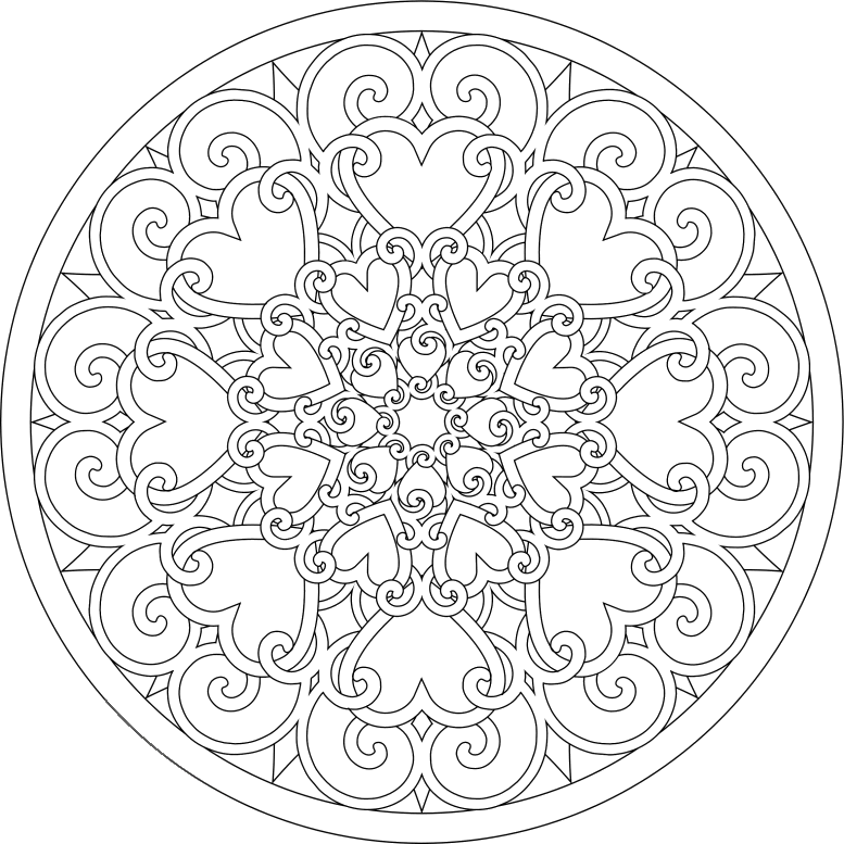 full page mandala coloring pages - photo #2