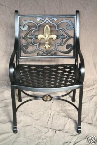 New Orleans Fleur De Lis Chair