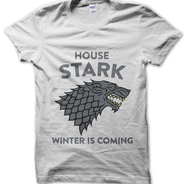 house stark winter is coming game of thrones inspired t shirt by clique wear television t. Black Bedroom Furniture Sets. Home Design Ideas