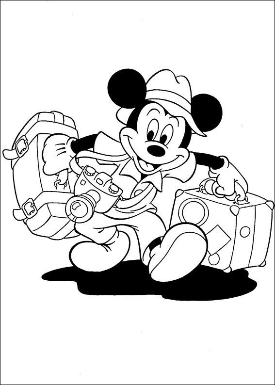 Mickey Disney Kleurplaten Kerst.Mickey Mouse Kleurplaten 1 Kleurplaten Kerstmis