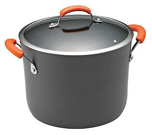 Rachael Ray HardAnodized II 10Qt Covered Stockpot — QVC