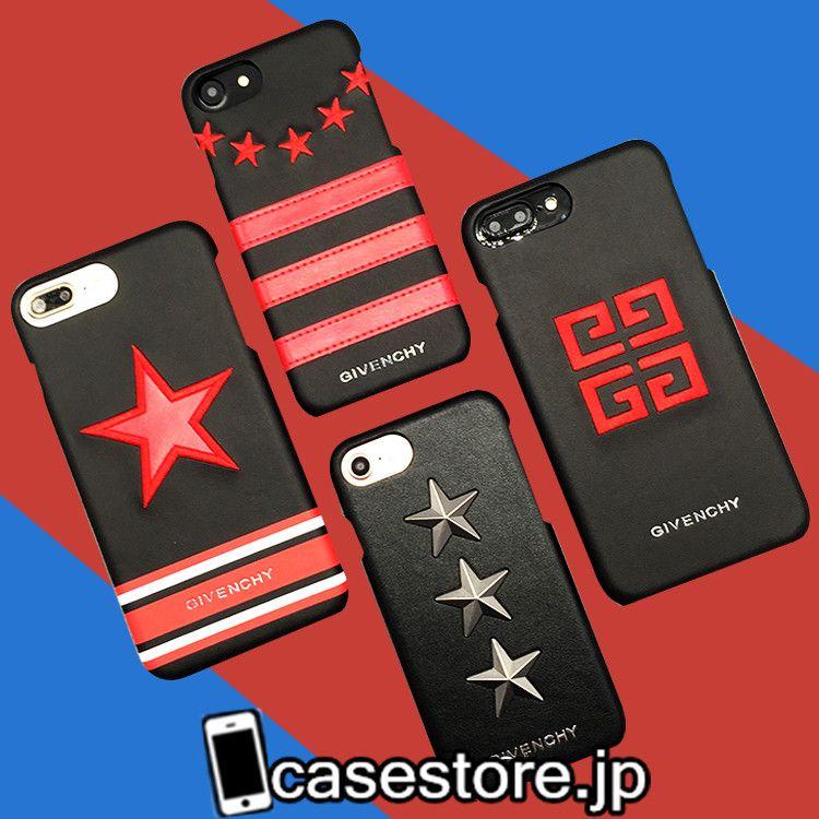 givenchyジバンシィ スマホケースiphone7個性的オリジナルiphone6plus星付きリベット皮製ファッションブランド6sかっこいい