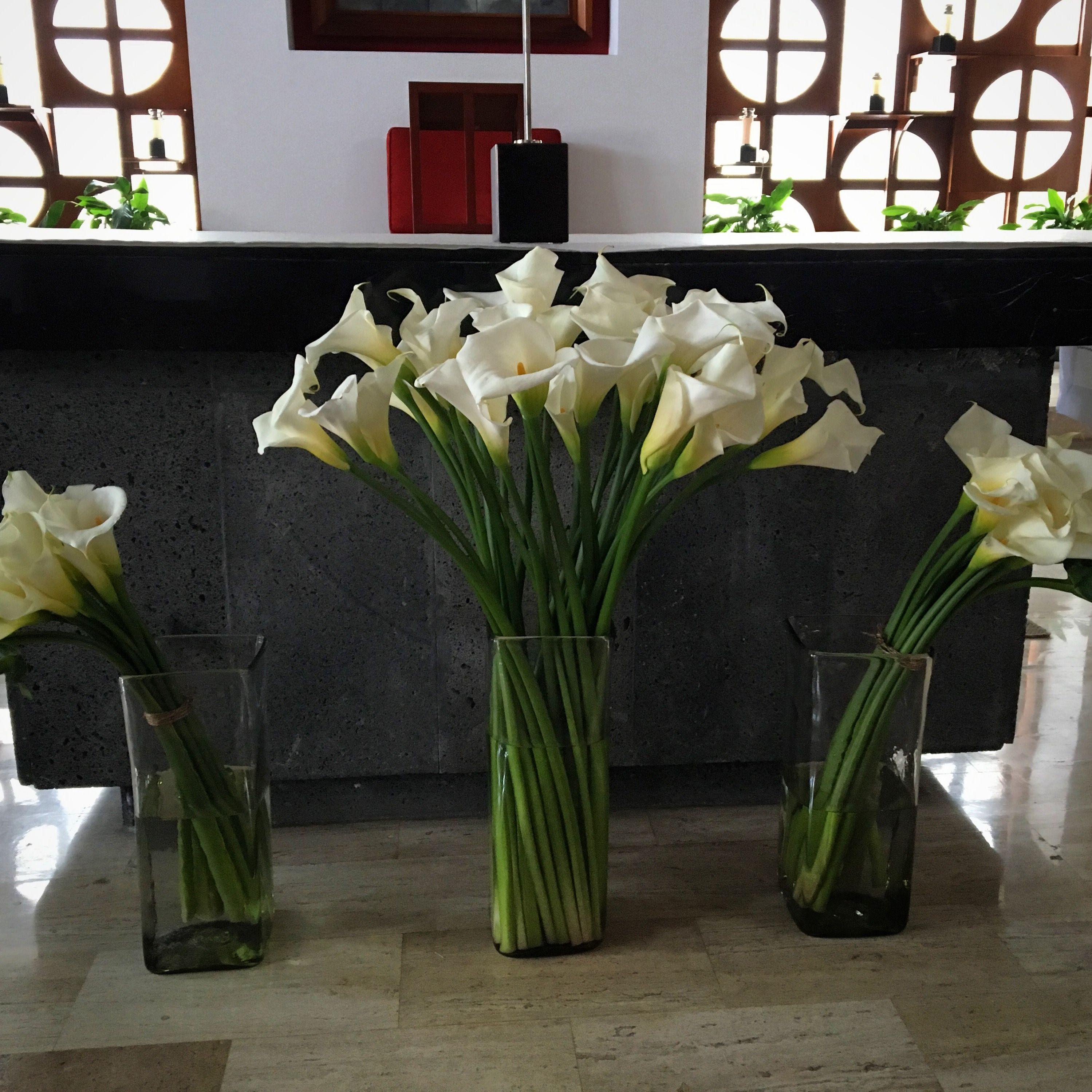Alcatraces Arreglo Floral Para Iglesia Flores Para El