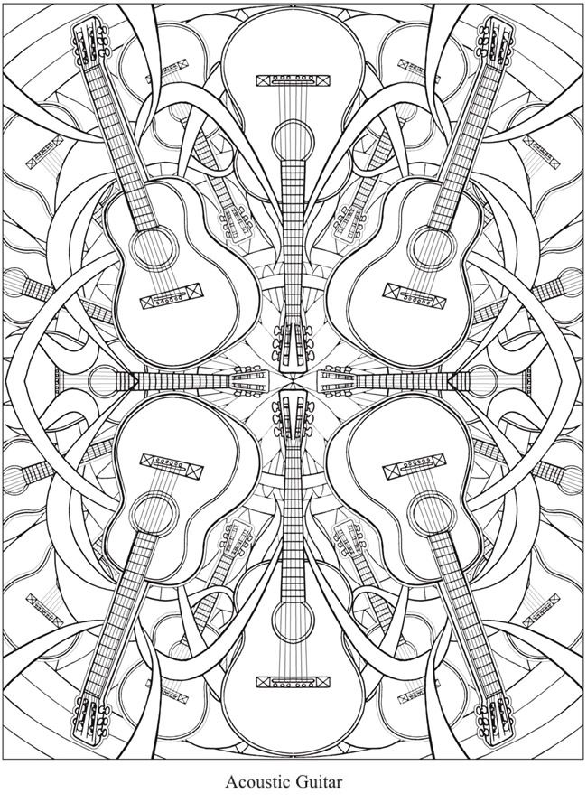 Welcome to Dover Publications - CH Musical Kaleidoscope | coloring ...