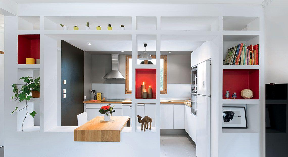 Cuisine Ouverte Une Rénovation Moderne Et Fonctionnelle Touche - Porte placard coulissante jumelé avec serrurier paris 17ème