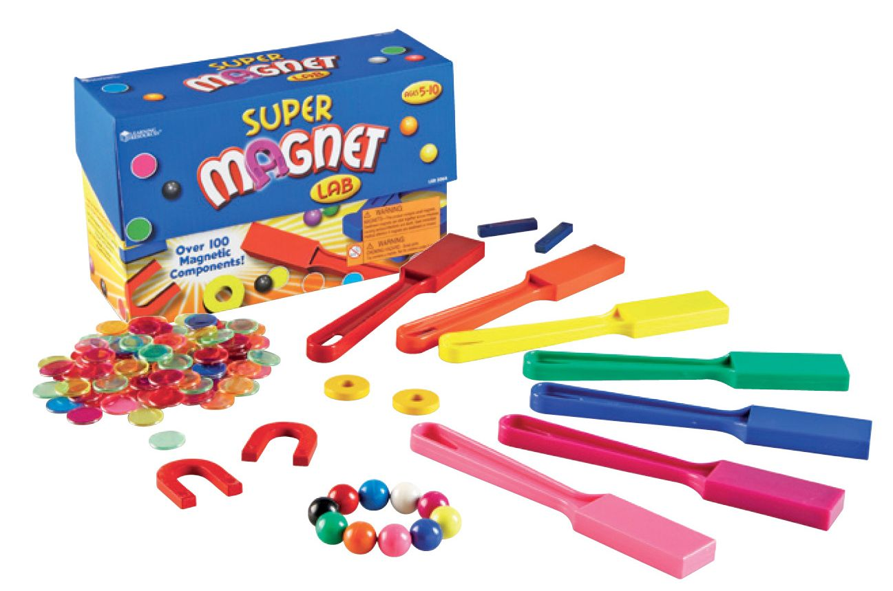 This complete hands-on classroom kit provides endless opportunities for students to explore magnetism! Class set for 25 students. Find the Super Magnet Lab in the Classroom Essentials Catalogue: OPUS 1236258 Page 192 See the pages here: http://www.scholastic.ca/clubs/cec/