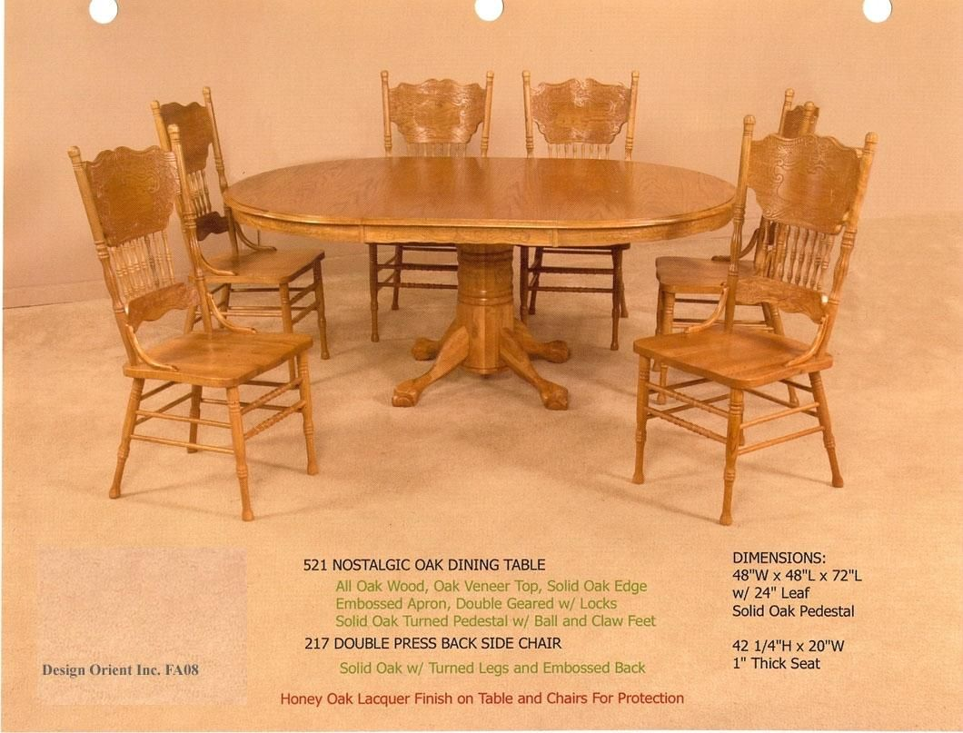 Chairs American Style Furniture And Amusing Oak Dining Table