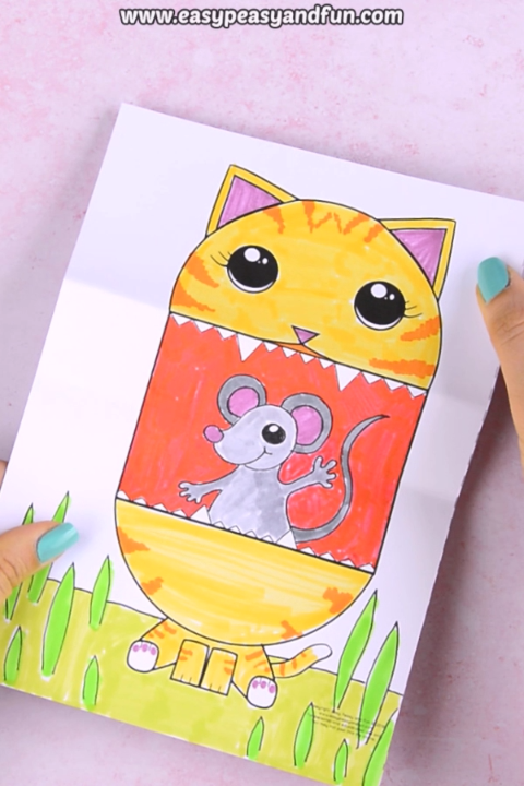 Surprise Big Mouth Cat Printable #craftsforkids