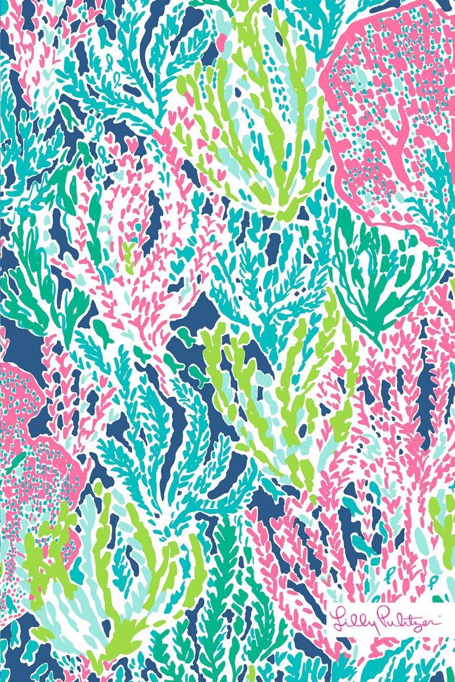 Lilly Pulitzer Wallpaper Fall Dark Blue Coral Reef Lilly Pulitzer Lily Pulitzer