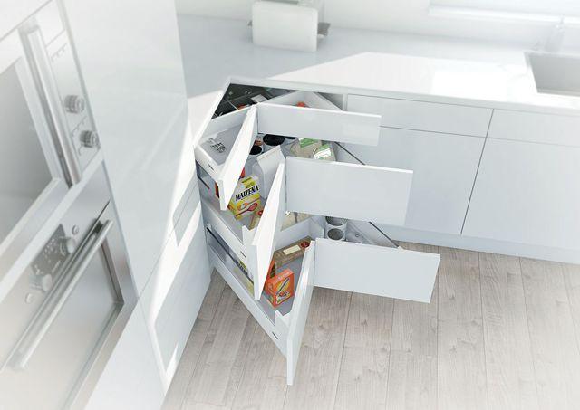 rangement gain de place : 15 idées pour la cuisine, la chambre ... - Tiroir Angle Cuisine