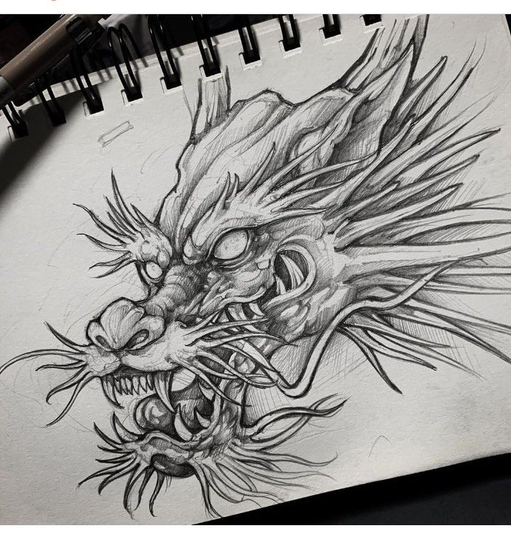 Pin By Gabriel On Daruma Japanese Dragon Tattoos Dragon Head Tattoo Sketch Tattoo Design