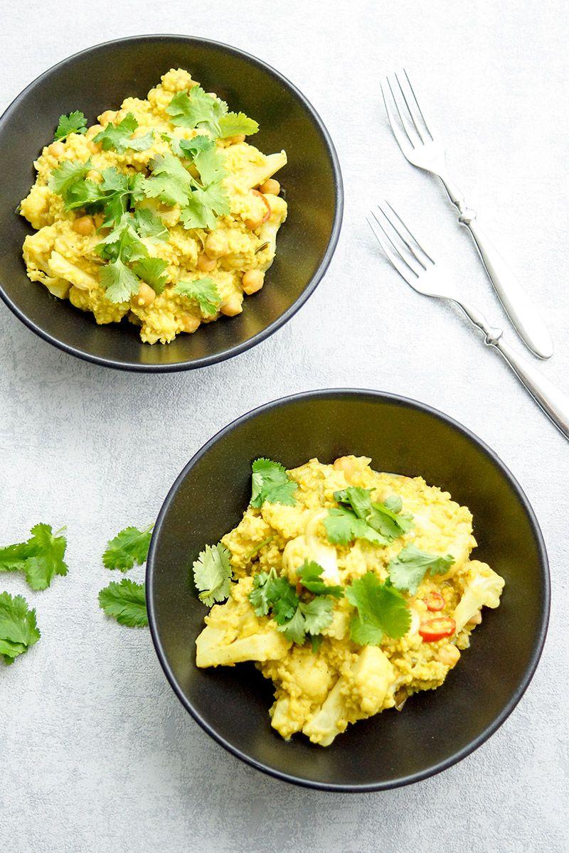 blumenkohl und kichererbsen curry mit hirse one pot rezept goldener blogger herbst. Black Bedroom Furniture Sets. Home Design Ideas