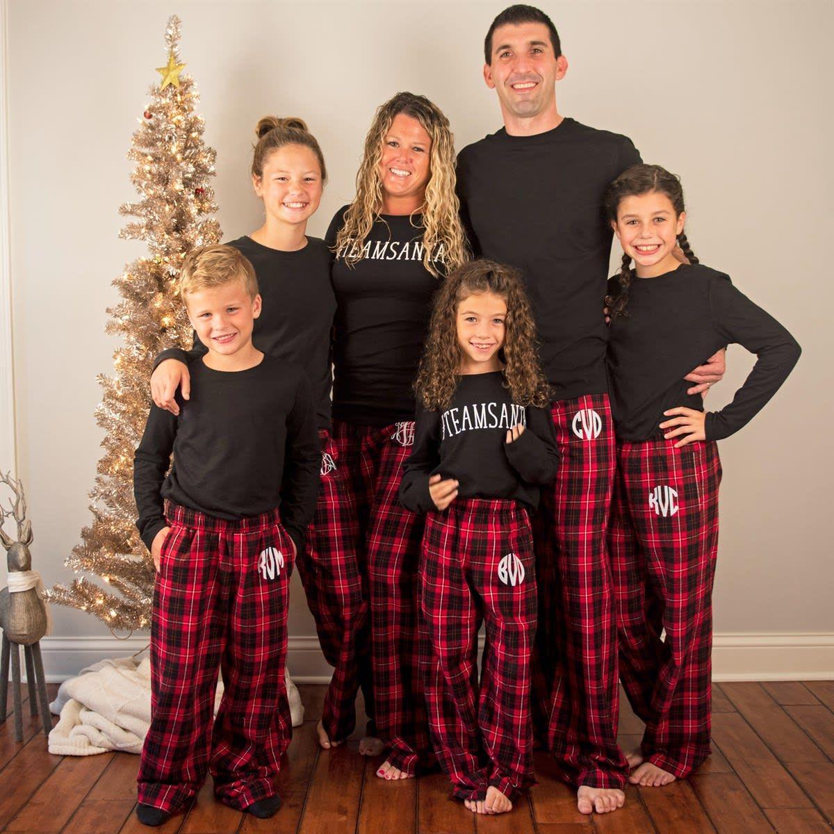 Monogrammed Christmas PJ Pants Family christmas pajamas