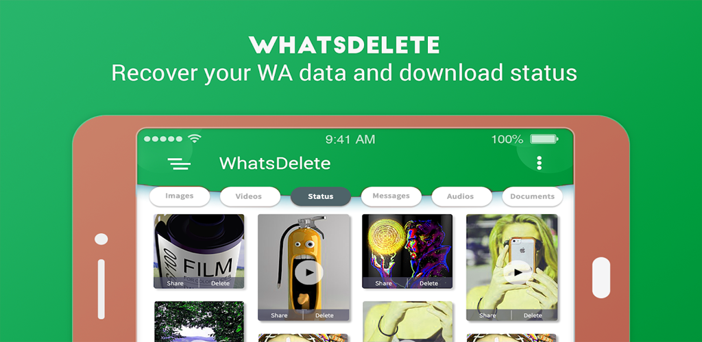 Have your friend deleted whatsapp messages(image, video