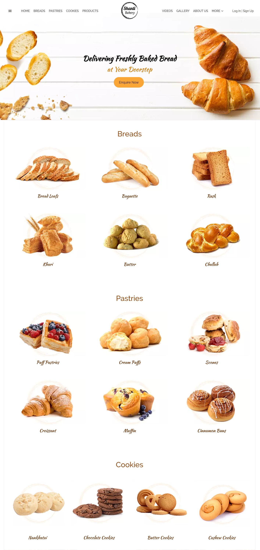 Best Free Bakery Website Templates Bakery Website Food Website Design Food Website