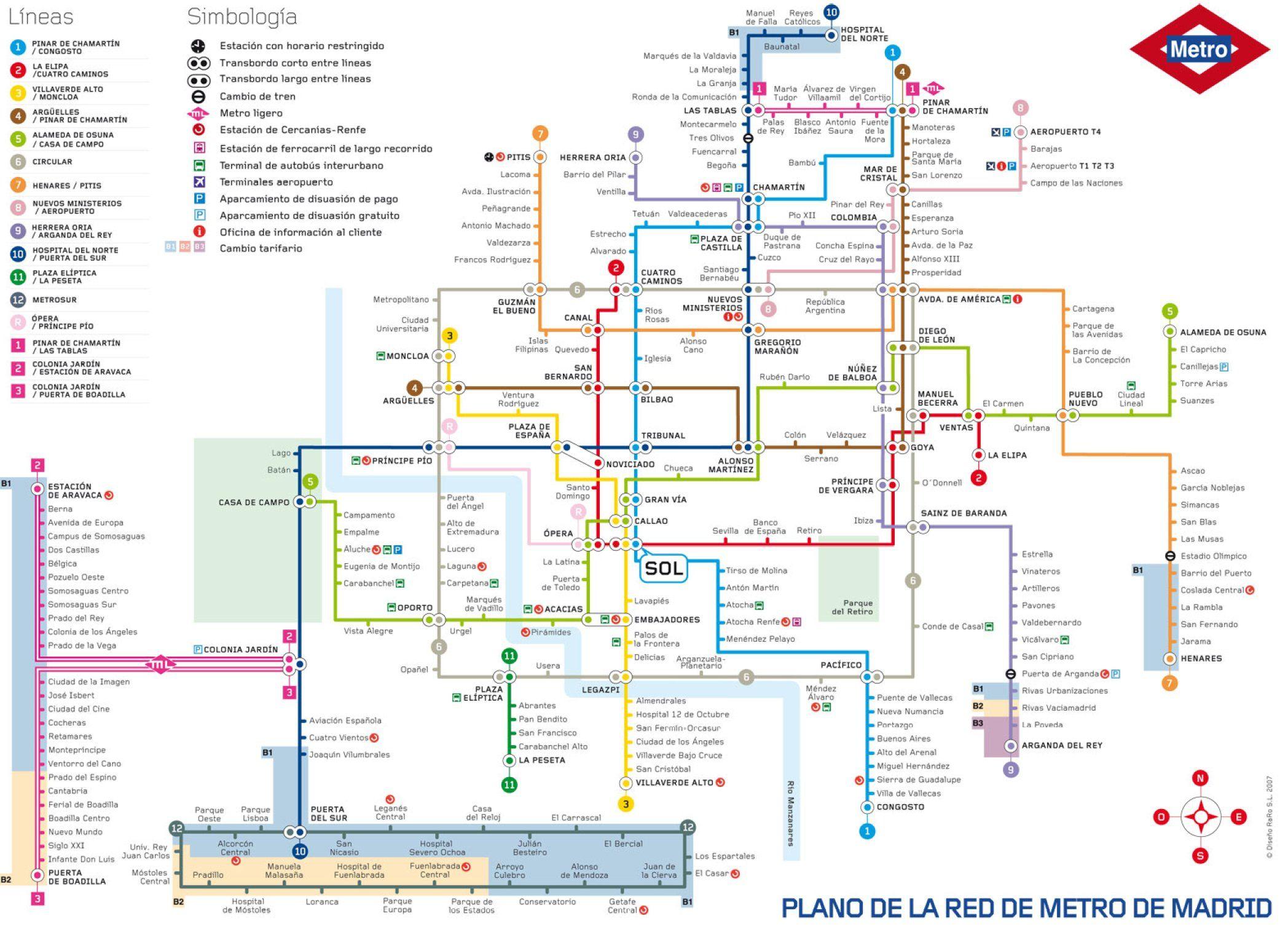 Spanish Metro Map.Pin By Kirsten Liebenow Plude On School Stuffs Madrid Metro