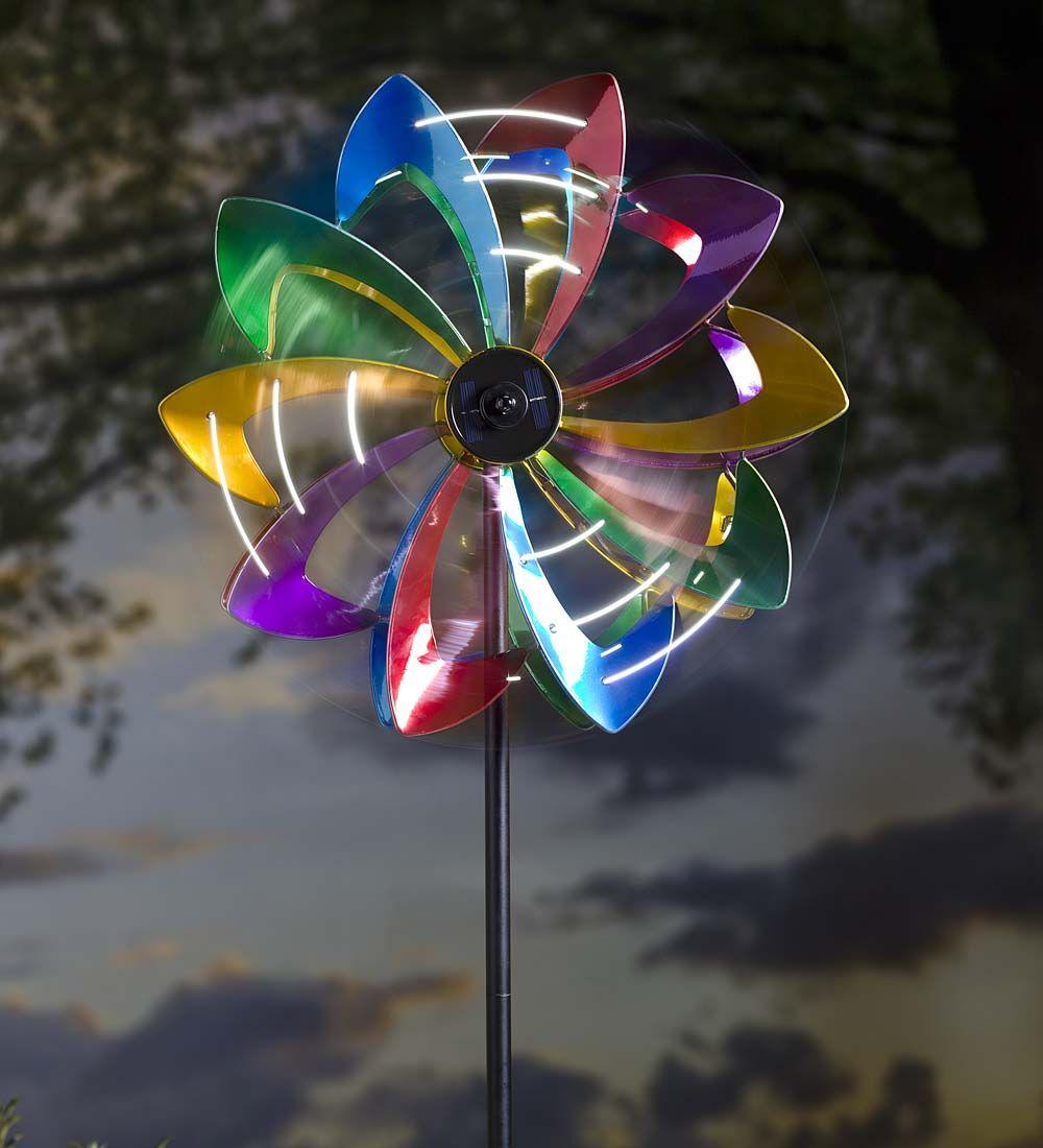 LED Flower Wind Spinner | Wind Spinners | Plow U0026 Hearth | Wind Spinner, Garden  Spinner, Metal Spinner, Solar Lighted Spinner
