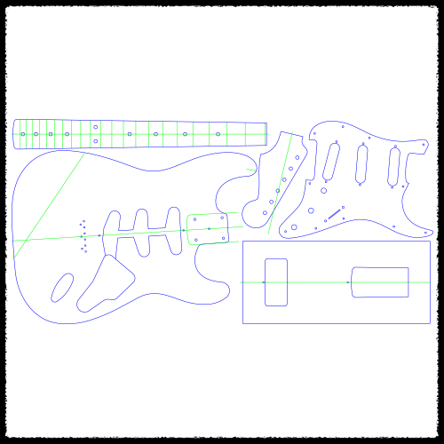 Stratocaster (Hardtail) Guitar Routing Templates in 2019 ... on