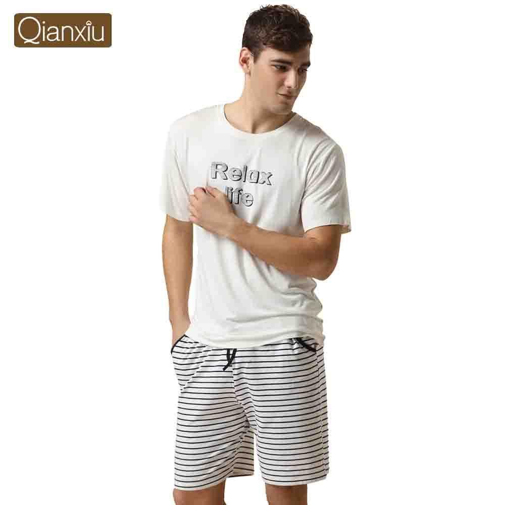 929251f1126 Qianxiu Brand Pijamas Casual Pajamas For Men Modal Sport Pants Suit Couple  Pyjamas Onesie 1Pcs Free Shipping