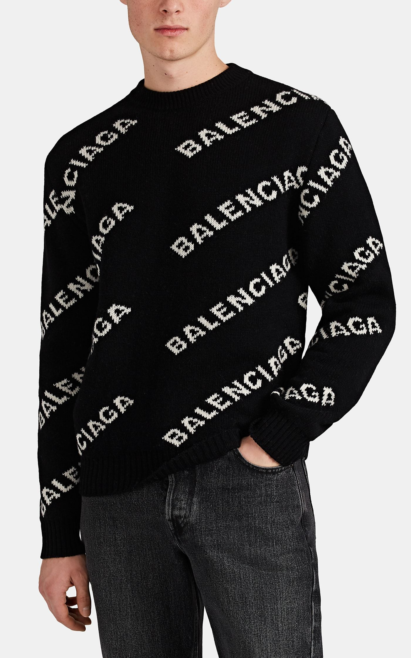 premium selection competitive price classic styles Balenciaga Logo-Knit Wool-Blend Sweater in 2019 | Clothing ...