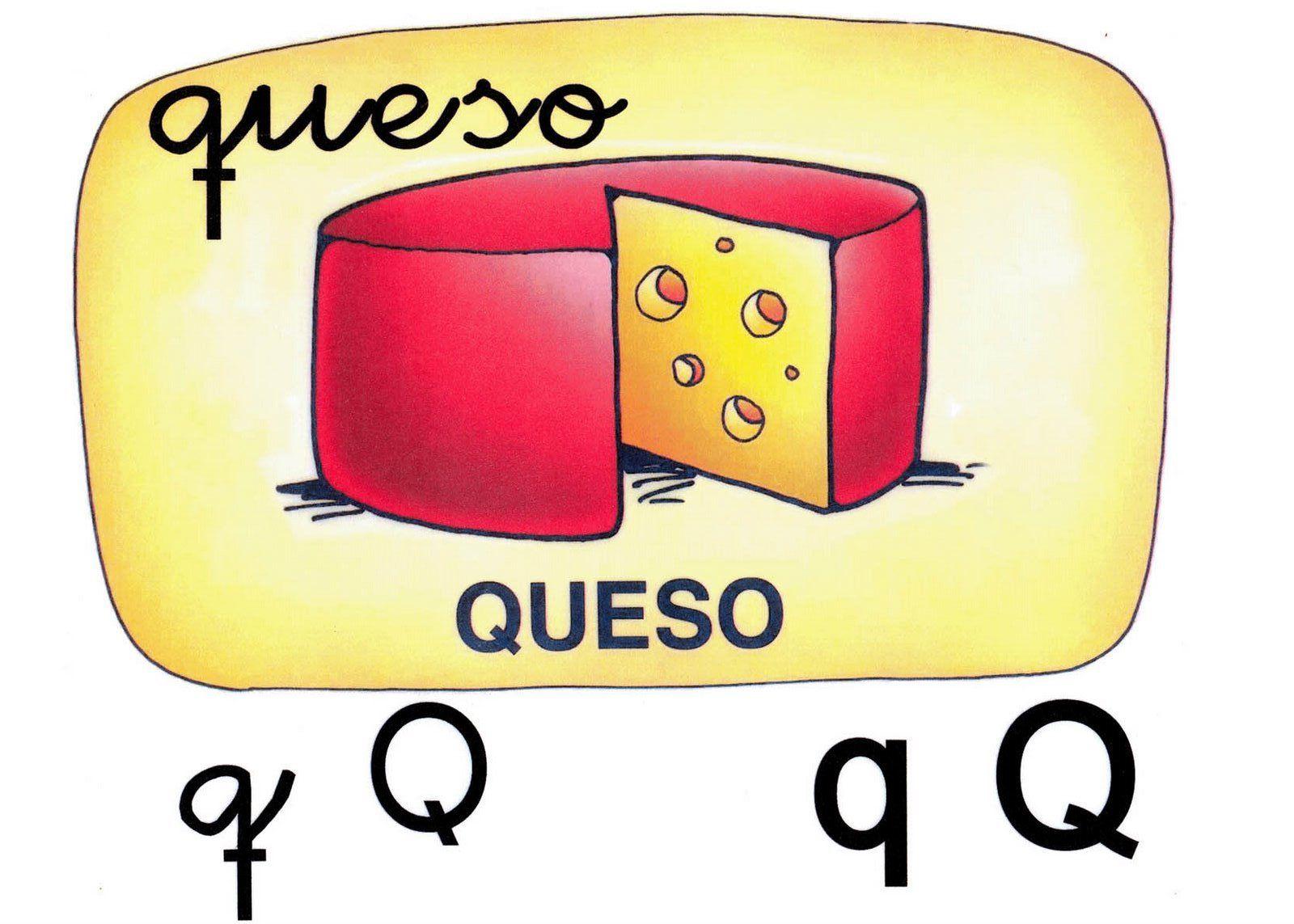 Letra q minúscula, Q mayúscula. Queso. | El Alfabeto con sus letras ...