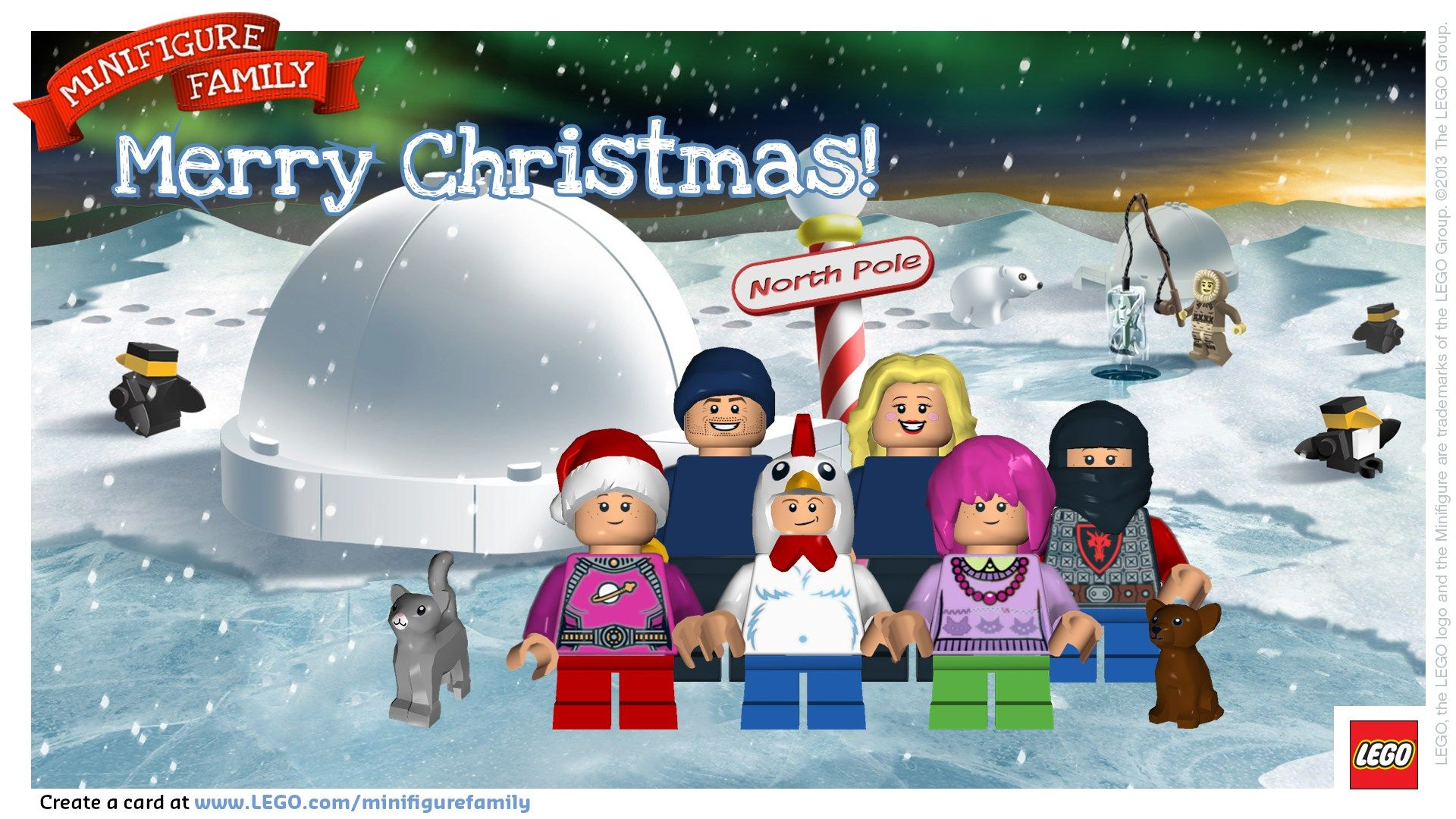 Merry christmas from the dan family create a lego minifigure