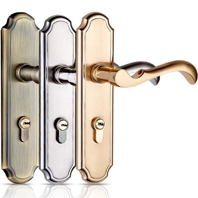 Highquality Door Lock Bedroom Door Interior Room Door Solid Wood Gate Locks Door Handle Simple Double Loc Door Handles Sliding Door Handles Wood Doors Interior