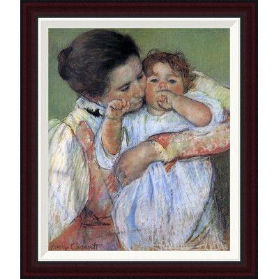 Global Gallery Little Anne Sucking Her Finger 1897 by Mary Cassatt Framed Painting Print Size: