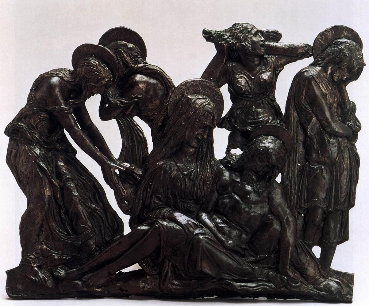 Lamentation over the Dead Christ. Donatello. 1456. Bronze