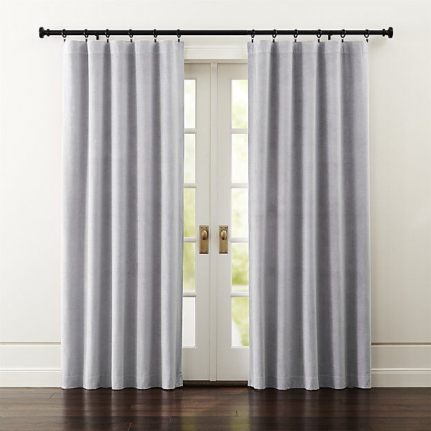 Windsor Dark Grey Curtains Crate And Barrel Grey Velvet Curtains Grey Curtains Curtains
