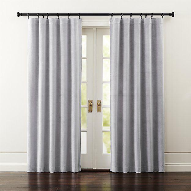 Windsor Dark Grey Curtains Grey Velvet Curtains Grey Curtains