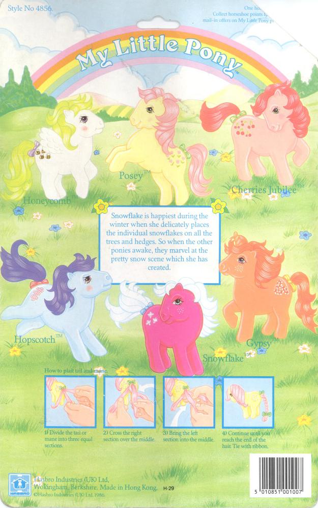 My Little Pony UK Earth Pony Backcard | My 80s Childhood | Pinterest ...