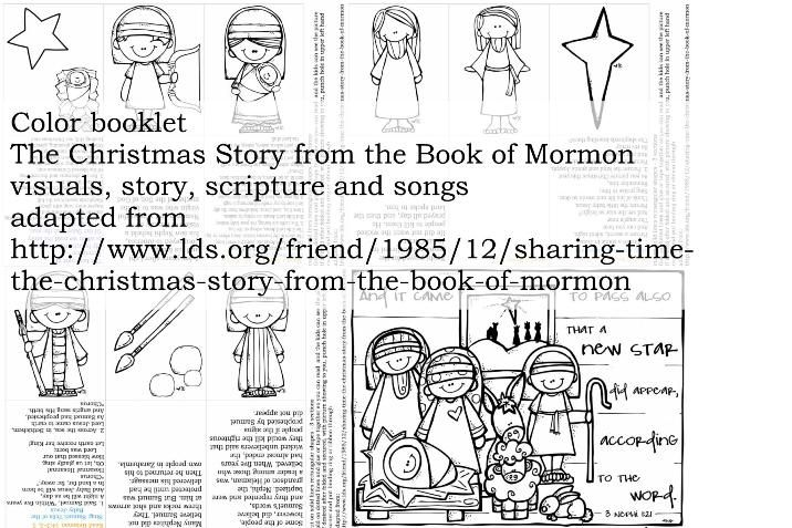 Color booklet, The Christmas Story from the Book of Mormon, visuals ...