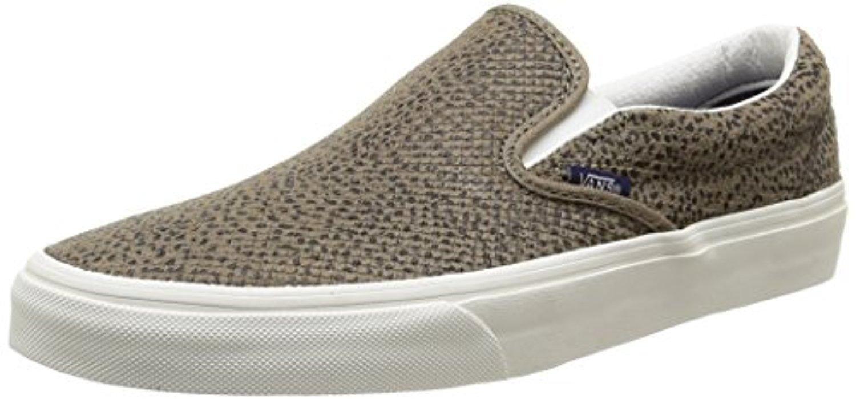 Vans U Classic Slip-on Perf Leather, Unisex-Erwachsene Sneakers, Schwarz ((Perf Leather) Black/Black), 37 EU