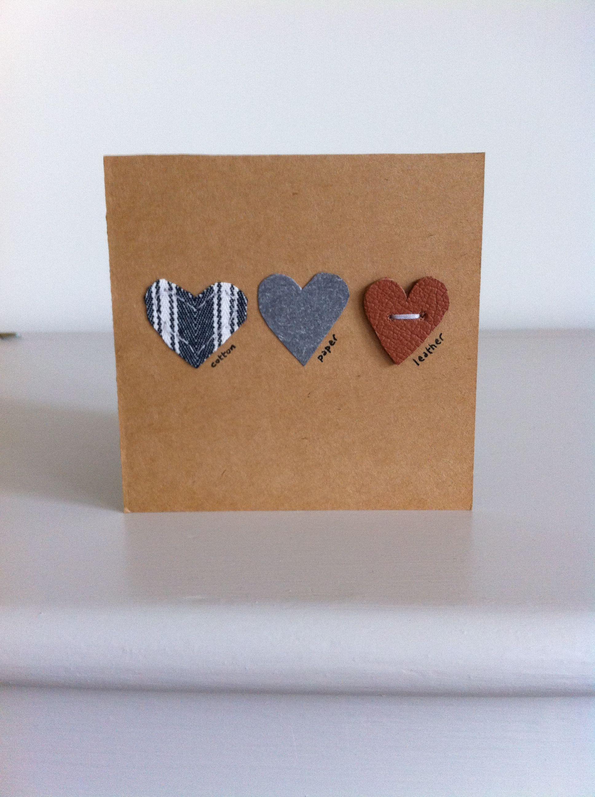 third anniversary card  wedding anniversary cards third