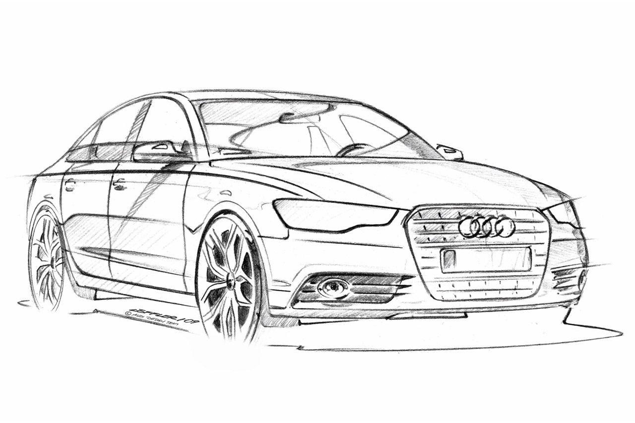 Audi A6 Design Sketch Sketch Sketches Audi Cars