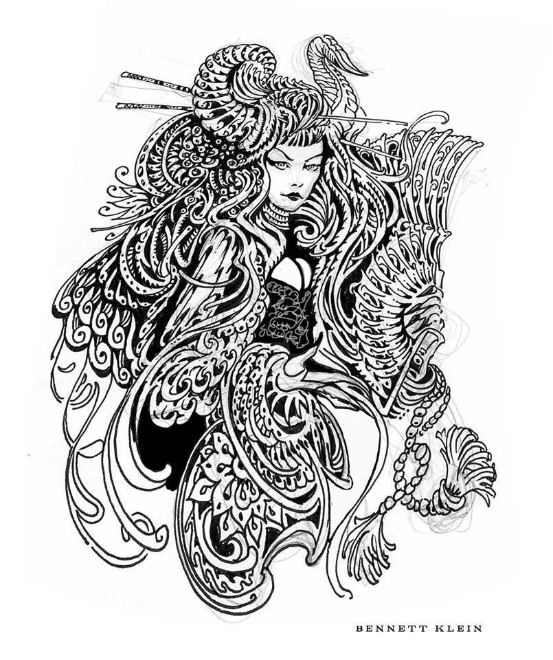 Artist bennett klein colouring pinterest artist for Bennett klein coloring pages