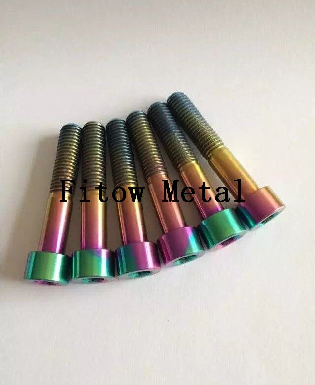 M6 Titanium Flange Headed Bolt,Motorcycle Bolt Kits