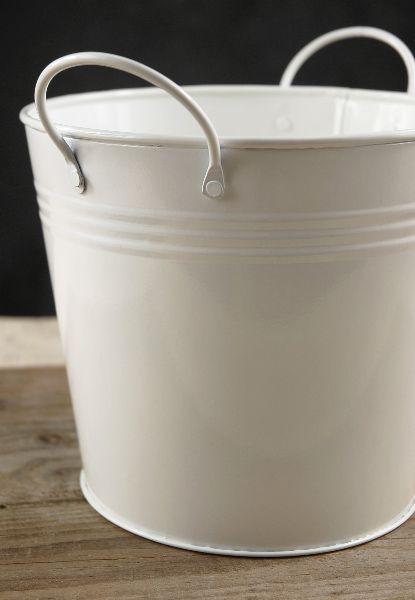 White Metal Bucket 6 45 X 5 5 Save 43 Metal Bucket White Metal Save On Crafts
