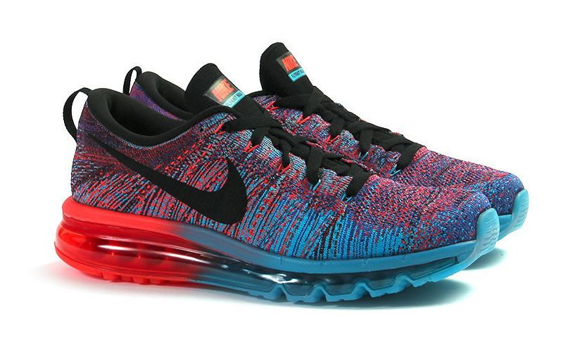 nike air max flyknit blue red